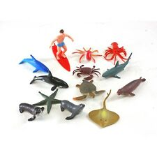 Sea Life Cake Toppers With Surfer Favors Ocean Party Cupcake Topper 13 PC Set