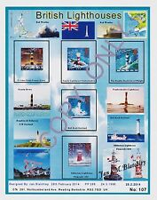 GB STAMPS 1998.A4  DESIGN SHEET BRITISH LIGHTHOUSES  & FREE GIFTS (107)