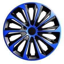"""4 Radkappen Radzierblenden 15 Zoll 15"""" Duocolor schwarz blau black blue"""