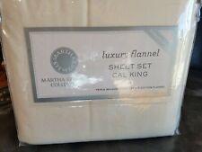 NIP Martha Stewart Collection Luxury Cotton Flannel Cal King Sheet Set (Beige)