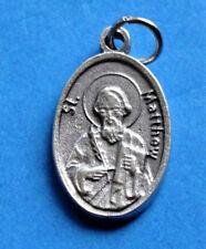 "St Matthew / Pray for Us Oxidized Medal (7/8"" x5/8"")"