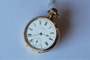 Beautiful Antique Gold P. Gents Waltham 17 Jewel, Royal, Pocket Watch. Working.