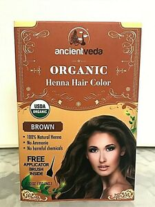 Ancient Veda Organic Heena Hair Color (brown)150 G+ free gift