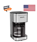 KRUPS Simply Brew Family Drip Coffee Maker, 10-Cup, Black & Stainless Steel photo