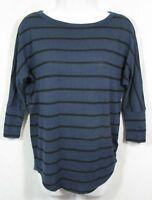 STITCH FIX MARKET SPRUCE Size S Corinna Dolman Knit Top Navy Black Stripe