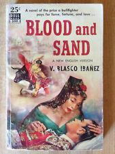 V. Blasco Ibanez BLOOD AND SAND 1951 Matador Dell Mapback Great Cover Art L@@K!