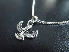 Egyptian Isis Necklace   Tibetan Silver & Silver Plate   18 inch  Goddess