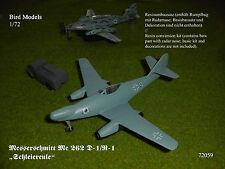 Messerschmitt Me 262 D-1/R-1 mit FuG240  1/72 Bird Models Umbausatz / conversion