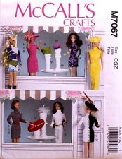 """11 1/2"""" FASHION DOLL CLOTHES * McCall's Sewing Pattern 7067 NEW Uncut"""