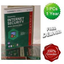 Kaspersky Internet Security 2016 5 Users Multi device inc Antivirus UK Boxed