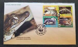 *FREE SHIP Philippines WWF Crocodile 2011 Reptiles (stamp FDC)