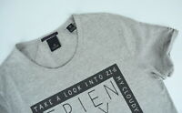SCOTCH & SODA Men's SMALL Letter Prints Rolled-up Sleeves Grey T-shirt 5439*mm