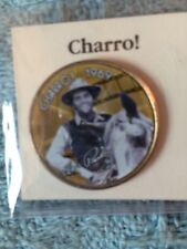 "NOS ELVIS MYSTIC STAMP ""MOVIE COIN COLLECTION"" ""CHARRO"" COLORIZED HALF DOLLAR"