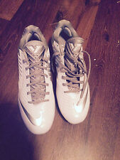 Reduced! Nike Vapor Speed Lax Cleats Men 11.5 White/Silver