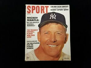 May 1967 Sport Magazine - Mickey Mantle NY Yankees NO MAILING LABEL EX+