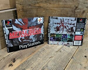 Metal Gear Solid (SLES 01370) Genuine ART INSERTS ONLY (PS1) NO Game