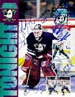 1993-94 Anaheim Ducks team signed autographed Inaugural Game program Guy Hebert