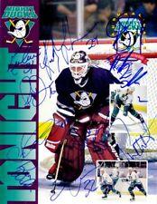 1993-94 Anaheim Ducks team signed autographed Inaugural Game program Guy Hebert