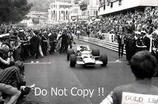 Graham Hill Gold Leaf Team Lotus 49B Winner Monaco Grand Prix 1968 Photograph 1