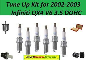 Tune Up for 2002 2003 Infiniti QX4 V6 PCV valve, Air Oil Fuel Filter, Spark Plug