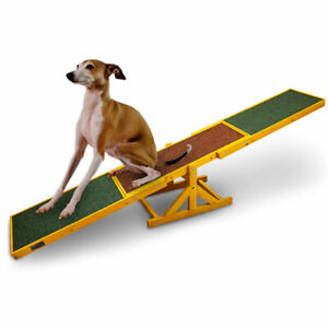 BITUXX Hundewippe Agility Training Wippe Hundesport Hundetraining
