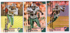1999 Finest Refractors #107 Zach Thomas + #76 Oronde Gadsden + O J McDUFFIE #48