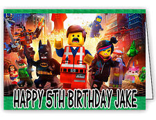 Personalised Birthday Card with The Lego Movie Print - Any name and age