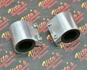 "2 x BILLET ALUMINUM 1"" high temp pipe clamps connectors Yamaha Banshee 1987-2006"