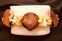 New Scallop Seashell Snail Shell Bracelet Ocean Nautical Vtg