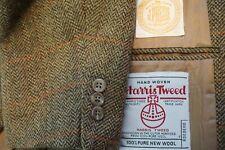 J. Press Harris Tweed Brown Herringbone Orange Windowpane 3/2 Sport Coat 39R