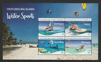 cocos (Keeling) Islands 2019 : Water Sports - Minisheet, Mint Never Hinged