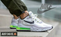 NIKE AIR MAX 270 - REACT - SUMMIT WHITE GREEN VAST GREY SILVER LILAC  - UK SIZES