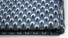 5 Yard Indian Hand Block Print Fabric Cotton Voile Indigo Dresmaking Fabric 1407