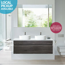 ASTI 1200mm Oak Grey PVC Thermal Foil Timber Wood Grain Double Vanity w Stone