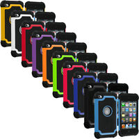 Deluxe Color Hybrid Hard Skin Case Cover Accessory for iPod Touch 4th Gen 4G 4
