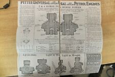petter universal PU engines & pumping sets adverts these are old photo copies