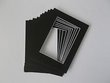 """10 x Professional Picture Framing Mat Boards 8"""" x 10"""" with 5''x 7"""" Photo"""