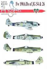 EagleCals Decals 1/72 FOCKE WULF Fw-190A & Fw-190D of JG 54 and JG 26