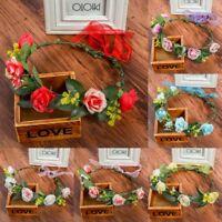 Adjustable Women's Flower Wedding Flower Hair Band Headband Wreath Crown Garland
