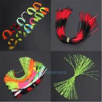 12 Bundles 50 Strands Silicone Skirts Fishing Flake Squid Lure Thread Jig Lure