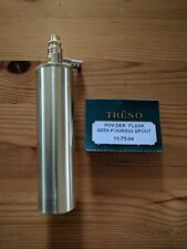 TRESO Powder Flask solid brass Muzzleloader 11-75-04  Made in USA
