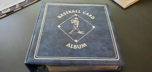 """Baseball Card Album Blue 3"""" - With Pages, No Cards"""