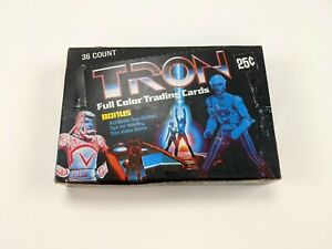 1982 Donruss TRON Movie Unopened Wax Box 36 Wax Pack Count Non-Sports