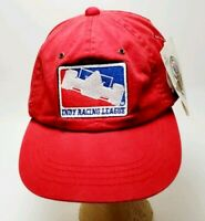 Vintage Indy Car Racing League 500 Hat Cap IRL Patch Adjustable Red Casual Fit