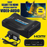 NEW HQ 1080P Scart To HDMI MHL Converter Audio Video Adapter For HDTV SkyBox STB