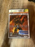 Halo 2 Two Microsoft Xbox 2002 platinum hits game and case ship fast test workin