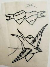 vintage original 50s floyd samson rbbc circus tattooer tattoo flash cut stencil