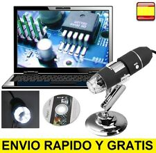Microscopio Digital Endoscopio Camara Amplificador USB 2MP 8LED + CD