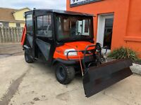 2014 Kubota RTV CPX1140 with Curtis Hydraulic plow, CREW, Extended dump bed
