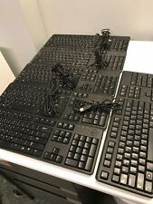 19 Assorted Genuine Dell USB Wired Keyboards Functioning, Cleaning Likely Needed